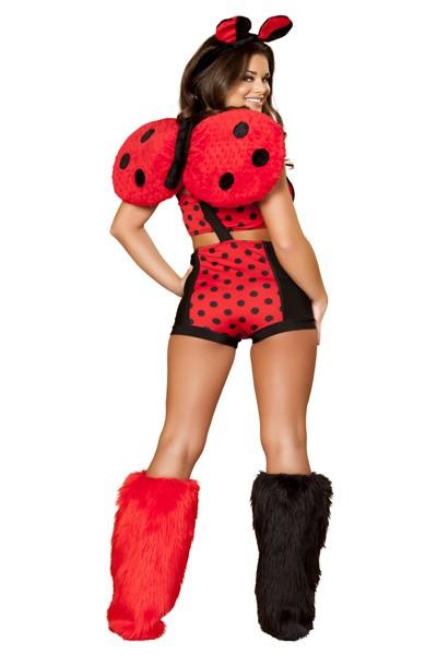 Black sex adult lady bug costume
