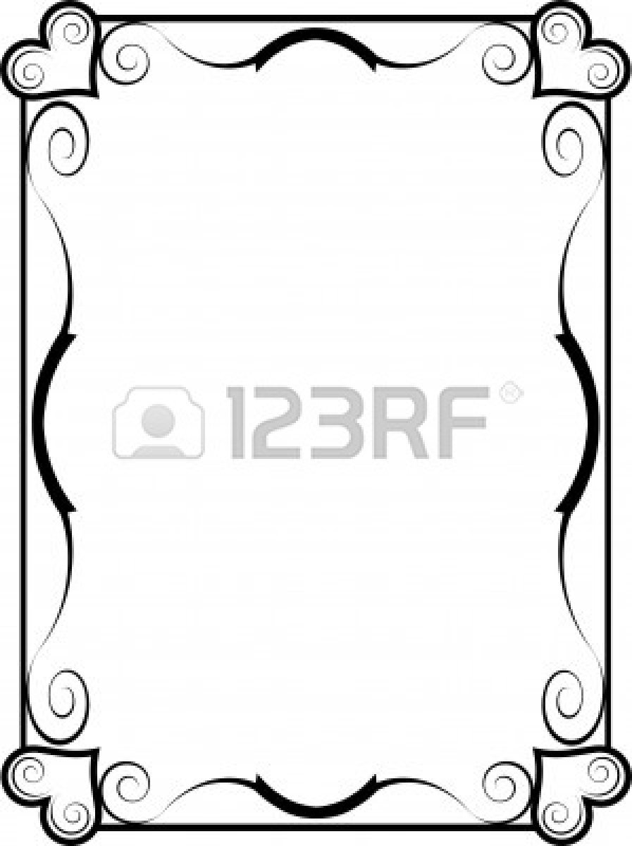 A black and white heart frame | Clipart Panda - Free Clipart Images