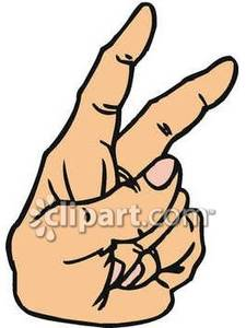 Two Fingers Up Clip Art