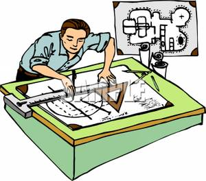 A man drawing blueprints clipart panda free clipart images blueprint clipart a man drawing blueprints malvernweather Gallery