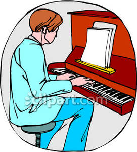 Man is Playing a Grand Piano clipart. Free download transparent .PNG |  Creazilla