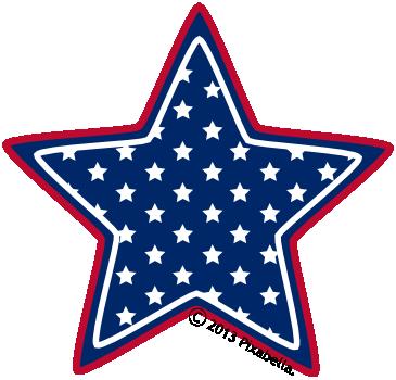 American flag star. Clip art clipart panda
