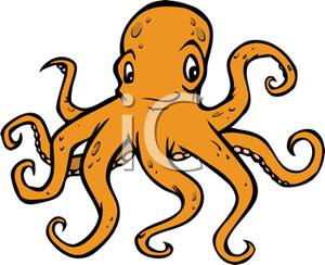 an orange octopus clipart clipart panda free clipart images rh clipartpanda com octopus clip art outline octopus clipart cute