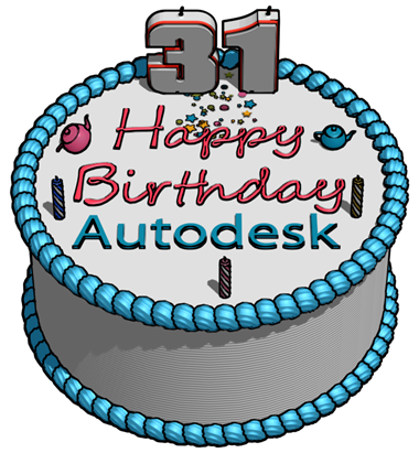Autodesk 31st BIrthday Cake In