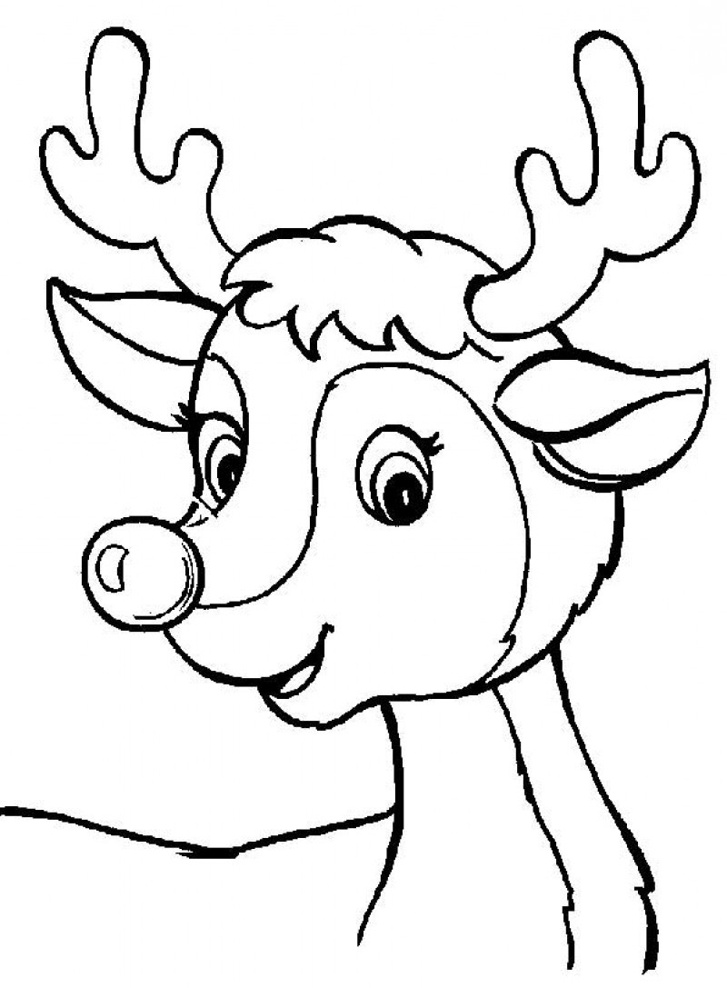 Deer Face Coloring Pages. Baby deer coloring pages  Clipart Panda Free Images
