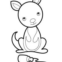 Baby Kangaroo Coloring Page Clipart Panda Free Clipart Images