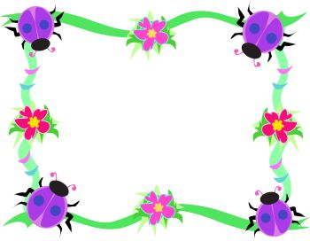 Clipart Border Background Of Beetles