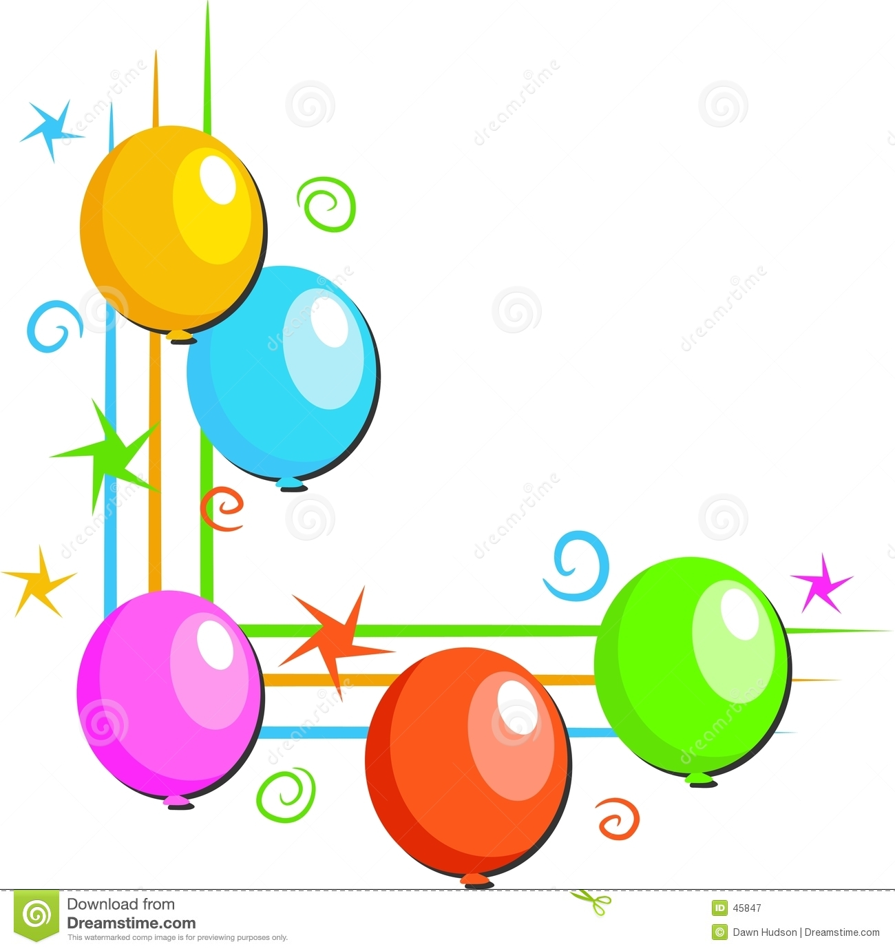 Balloons border clipart panda free clipart images clipart info thecheapjerseys Gallery