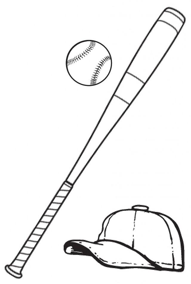 Baseball Bat Coloring Page | Clipart Panda - Free Clipart Images