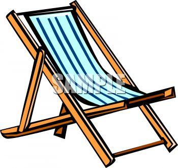 Beach Chair Clipart Image