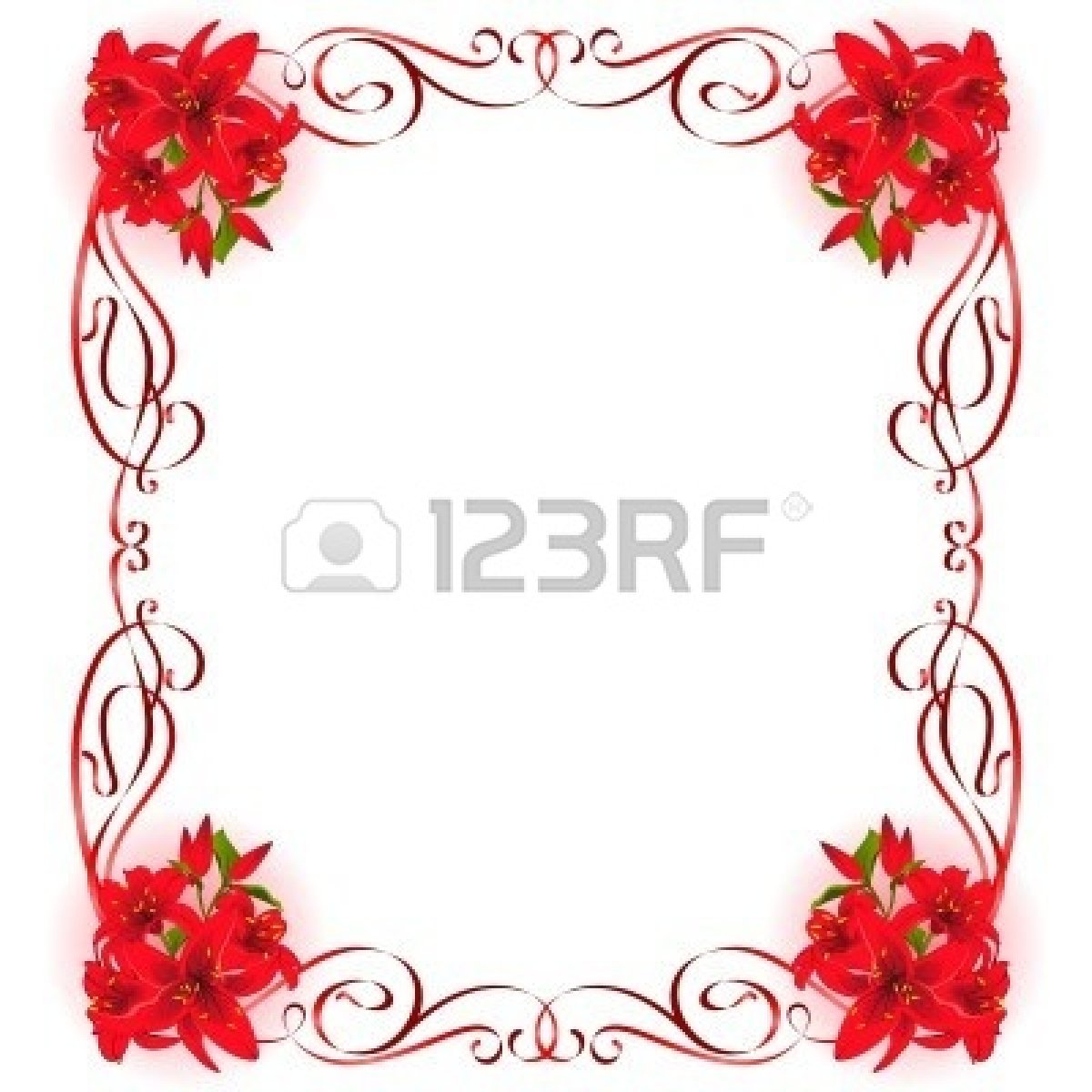 Beautiful frame with Lily | Clipart Panda - Free Clipart Images