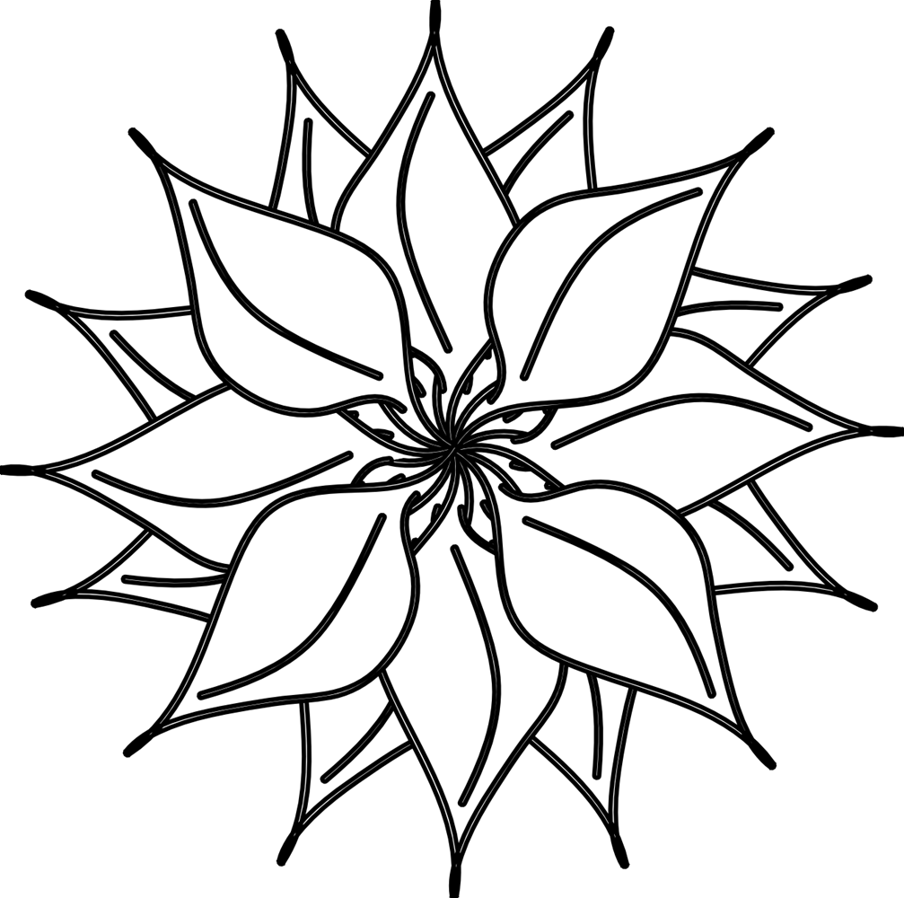 Black and white flower clip art alternative clipart design black and white flower clip art images gallery mightylinksfo
