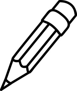 Paper And Pencil Clipart Black And White