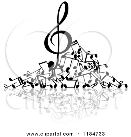 Black And White Pile Of Music | Clipart Panda - Free Clipart