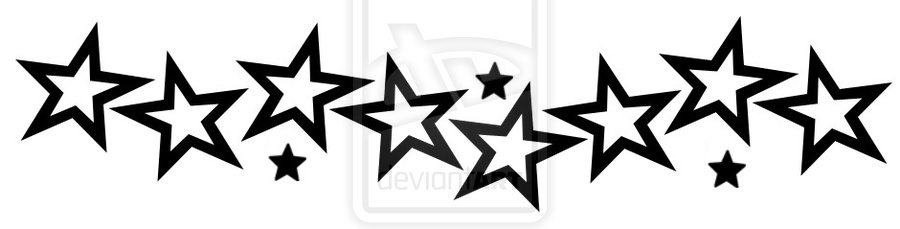 Black Stars Tattoo Designs: Black And White Star Design 3