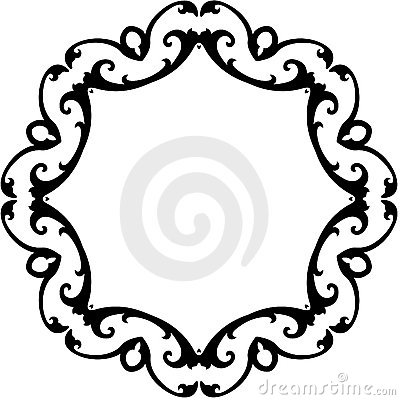 Black & White Round Scroll | Clipart Panda - Free Clipart Images