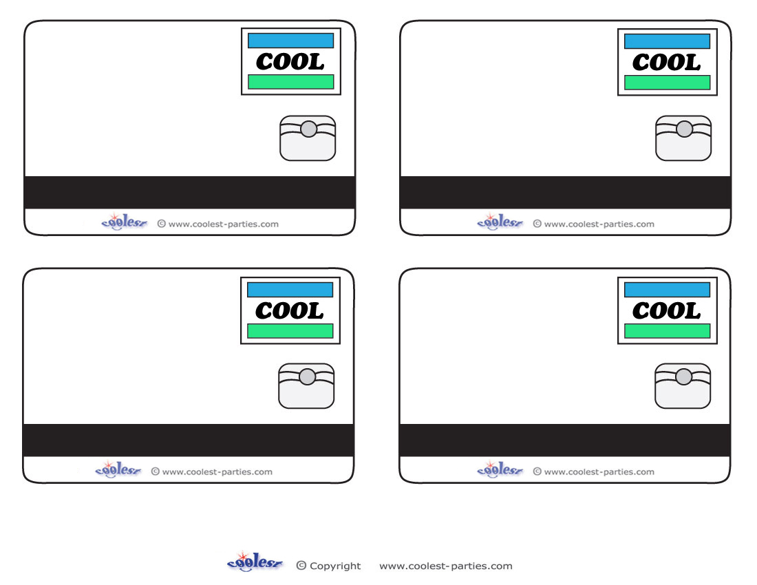 Blank COOL Credit Card Thank- | Clipart Panda - Free Clipart Images