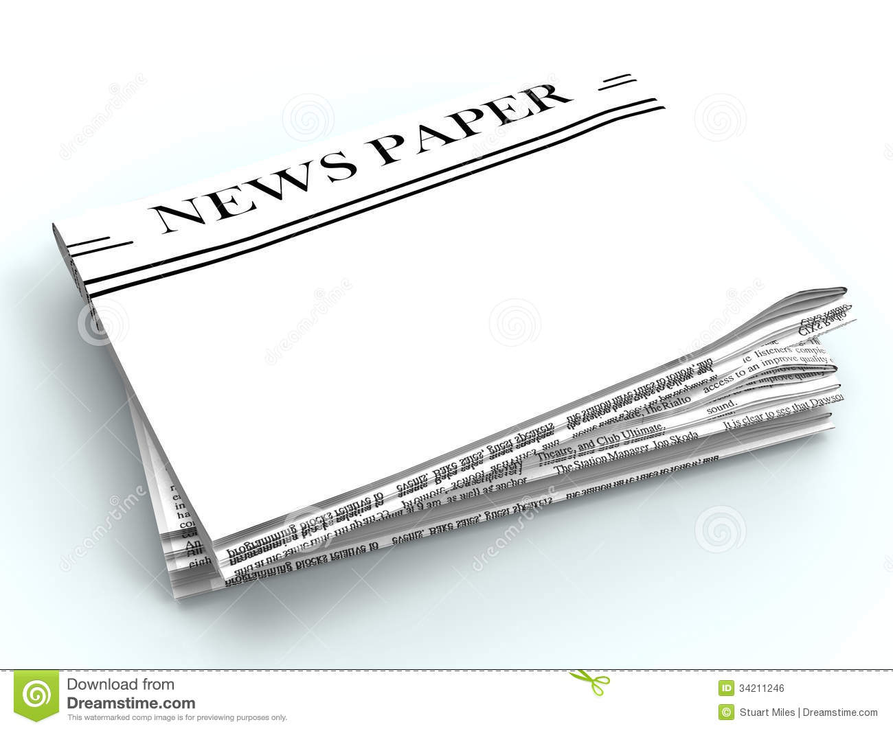 blank newspaper with copyspace | clipart panda - free clipart images