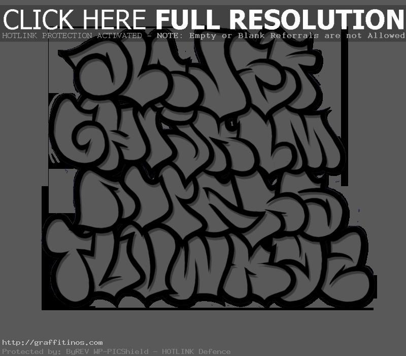 Bubble Letter Graffiti Fonts | Clipart Panda - Free Clipart