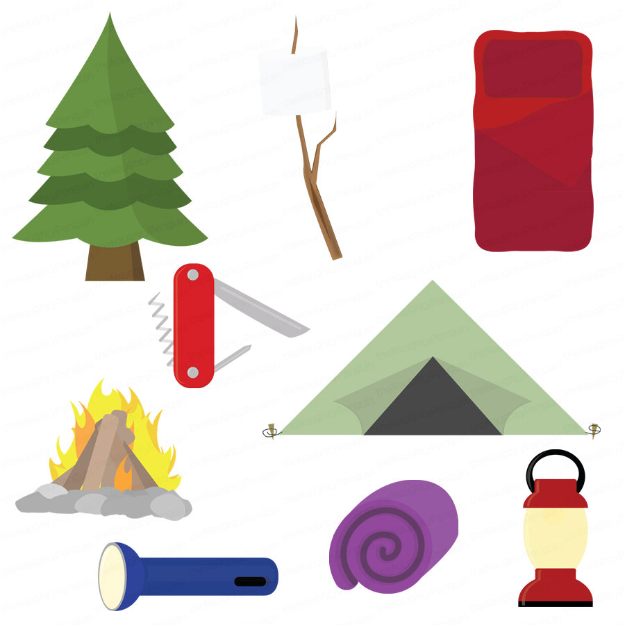 Camping Clipart Gear Equipment