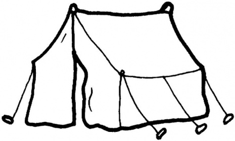 Camping Tent Clipart Black And
