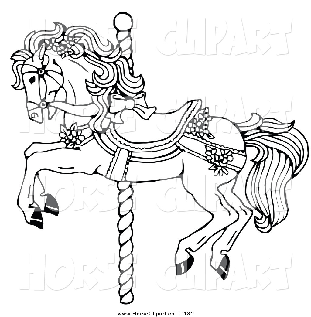 Carousel Horse Coloring Pages Clipart Panda Free Clipart Images