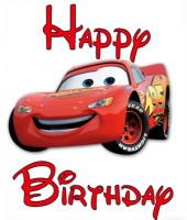 cars disney clip art cars mcqueen birthday greeting - Anniversaire Cars