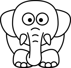 Cartoon Elephant Coloring