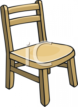 Chair Clipart Black And White Childs Wooden