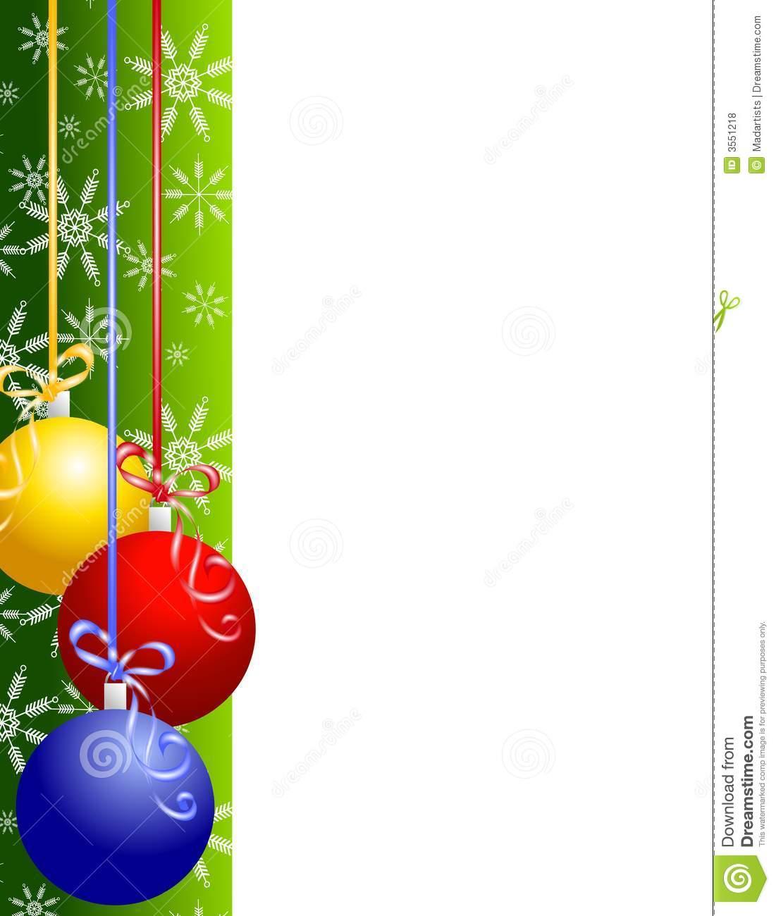 Christmas decorations borders - Christmas Clipart Borders Christmas Ornaments Border