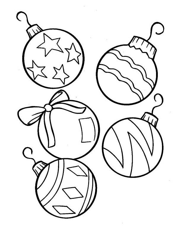 christmas lights coloring pages christmas ornaments coloring - Coloring Pages Christmas Lights