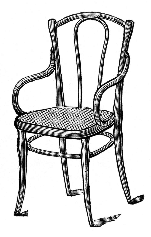 Chair Clipart Black And White Clip Art