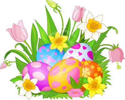 Clip Art Easter Eggs In A
