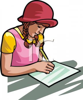 clip art girl writing clipart panda free clipart images rh clipartpanda com little girl writing clipart girl writing letter clipart