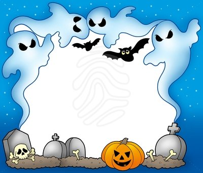 Clip art: Halloween frame with | Clipart Panda - Free Clipart Images