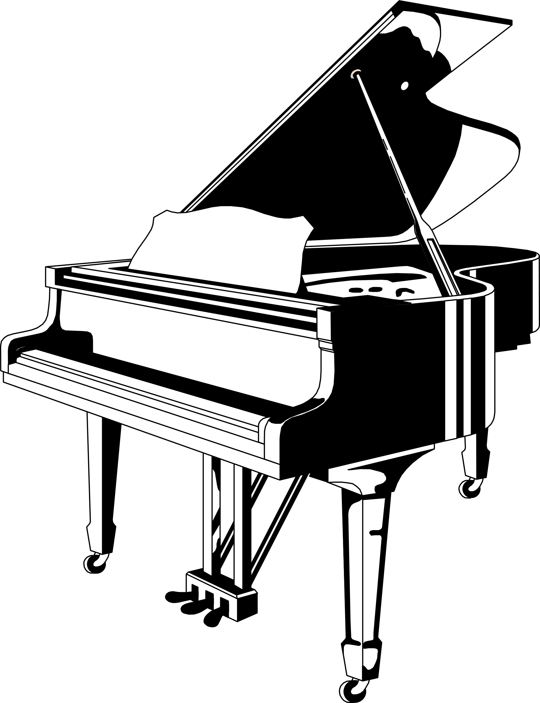 clipart piano black white clipart panda free clipart images rh clipartpanda com