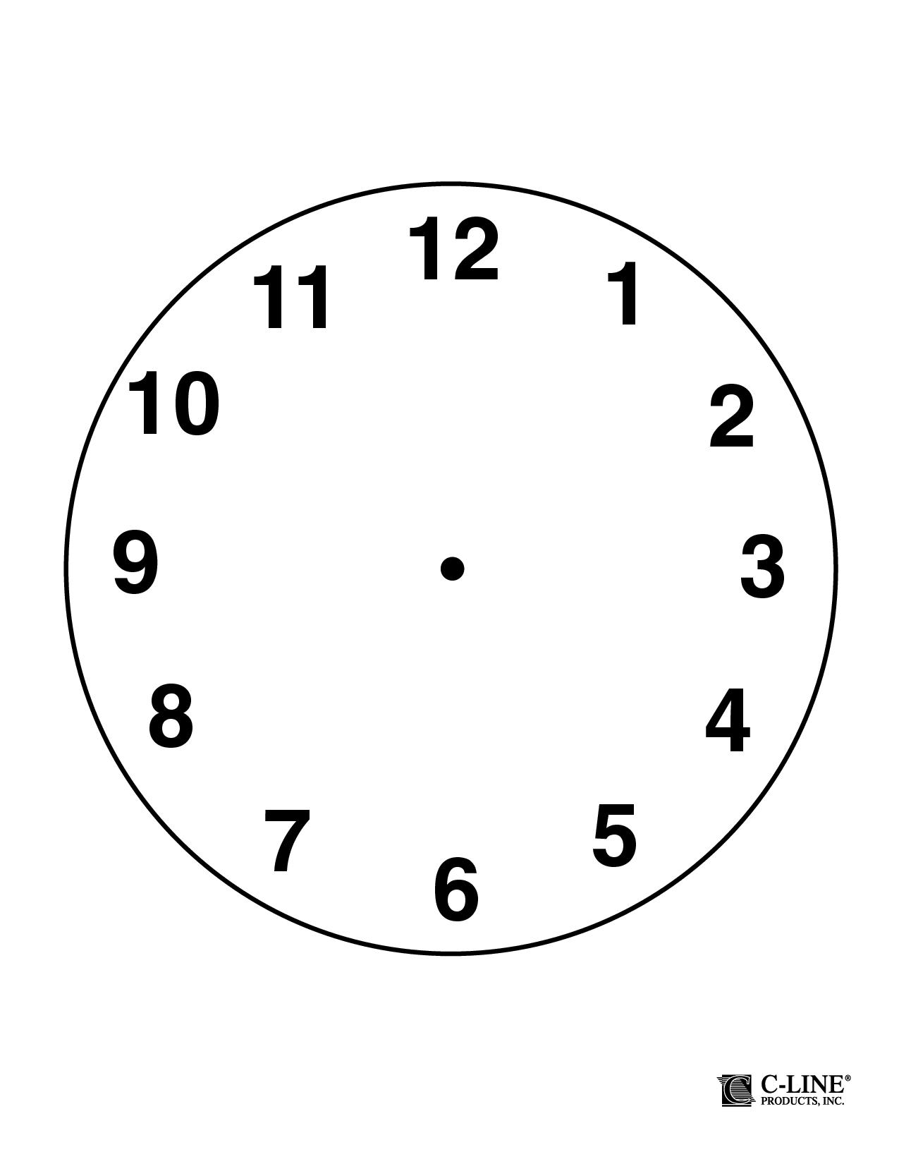 Clock Face Templates PDF – Clock Face Template