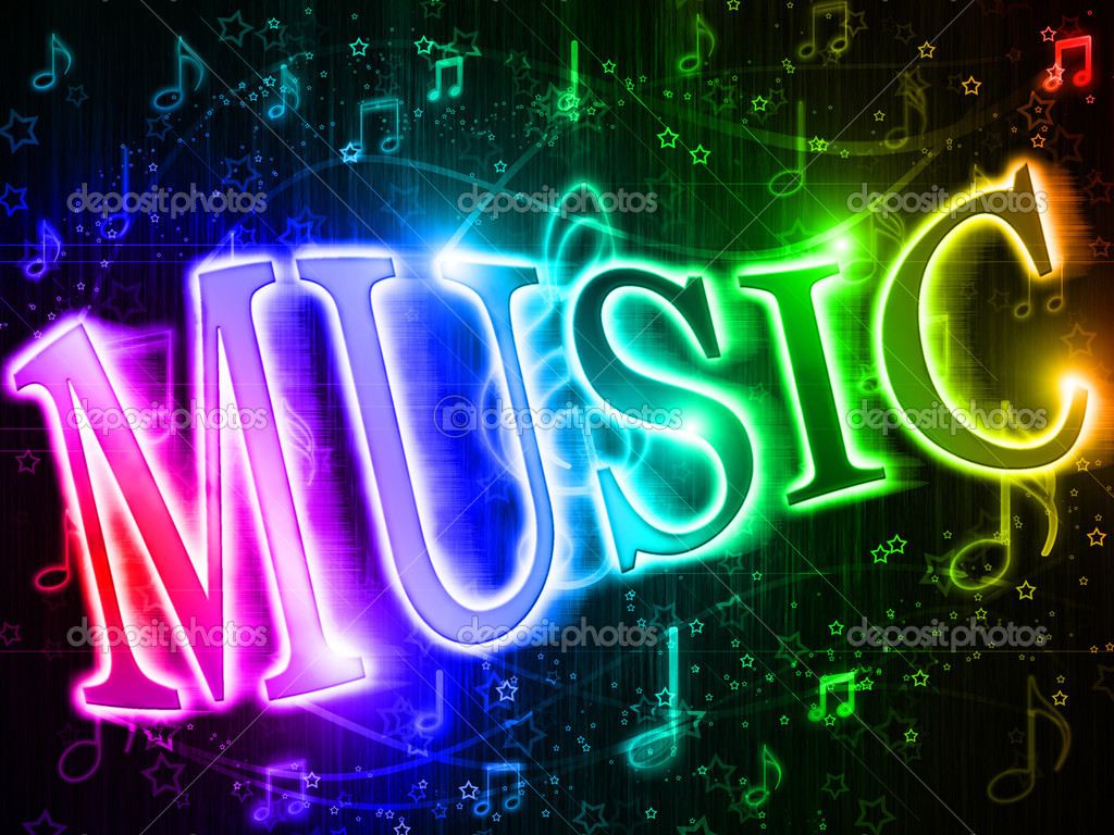 Colorful Word Music On Rainbow Clipart Panda Free Clipart Images