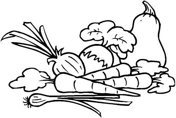 Coloring Book Dimensions Page Vegetables Clipart Panda Free Images