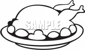 Cooked Chicken Clipart Black | Clipart Panda - Free Clipart Images