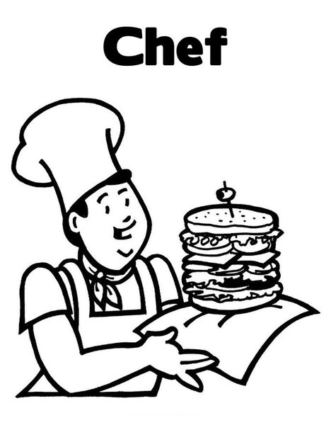 Cooking and Chefs Coloring Clipart Panda Free Clipart Images
