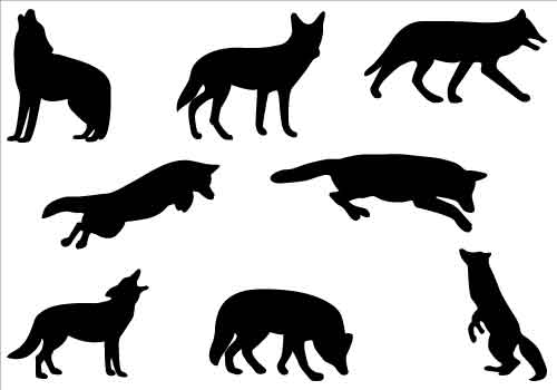 coyote silhouette clip art clipart panda free clipart images rh clipartpanda com clipart coyote howling coyote clipart transparency