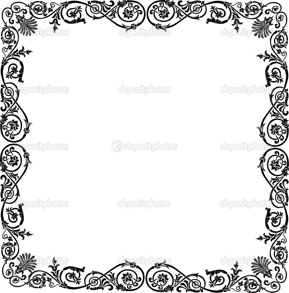 Curled black frame design | Clipart Panda - Free Clipart Images