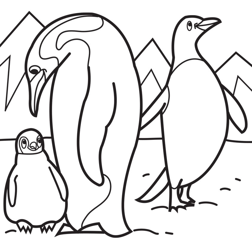 Cute Baby Penguin Coloring | Clipart Panda - Free Clipart Images