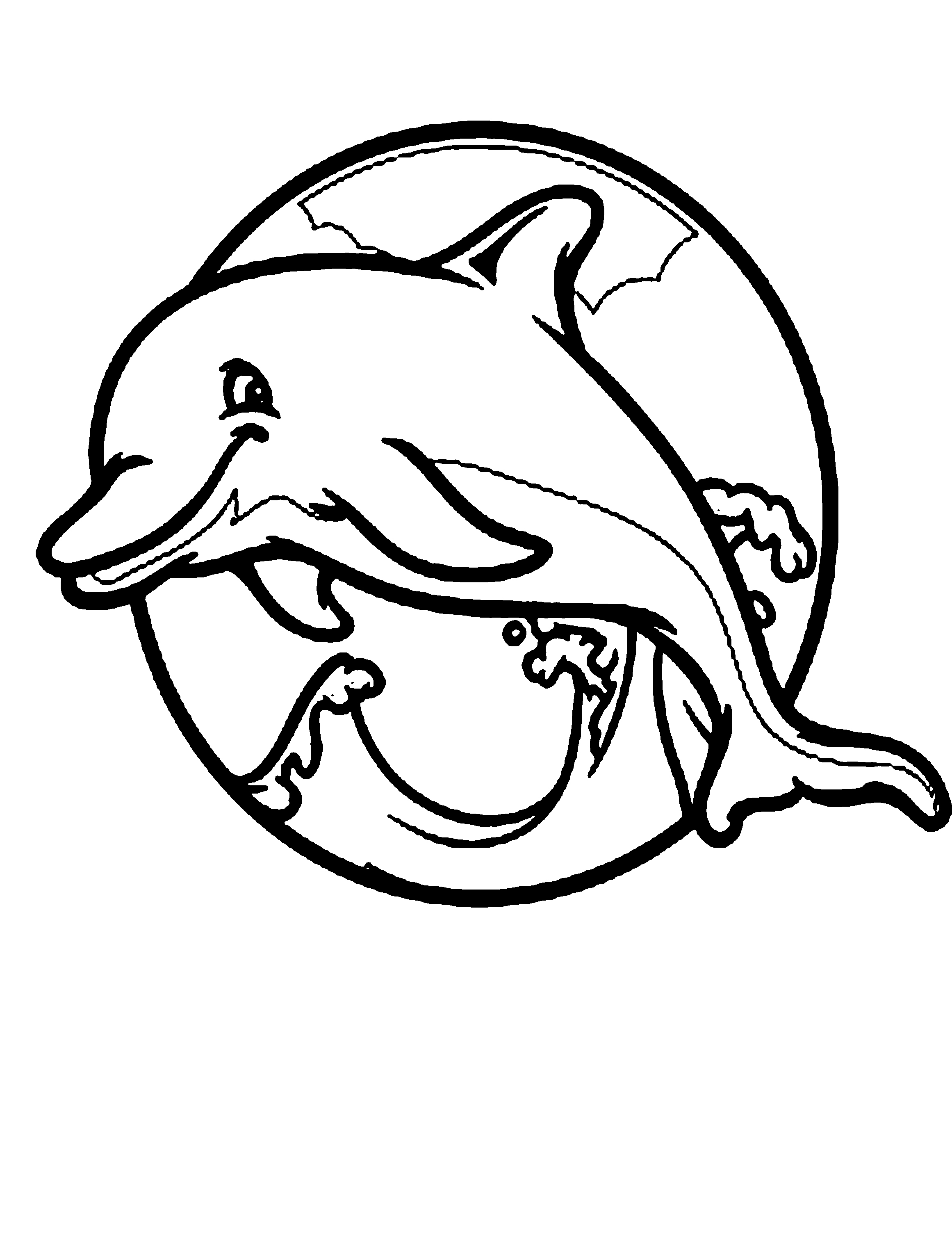 Free coloring pages dolphins - Clipart Info