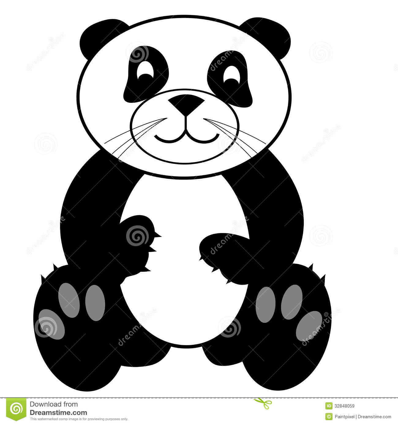 Cute Panda Bear Clip Art