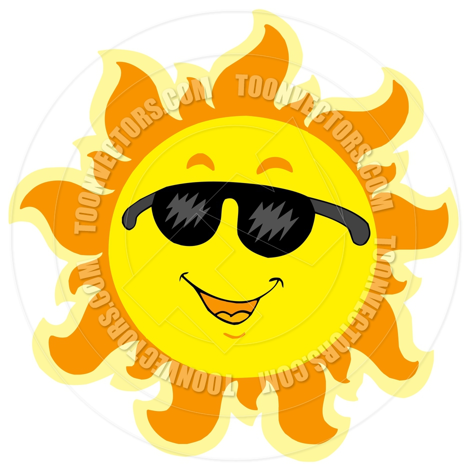 Smiling sun with sunglasses - Clipart Info