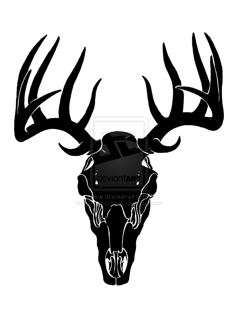Deer Skull Colouring Pages