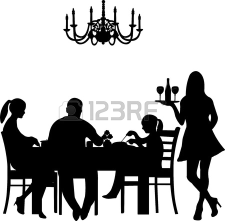 Dining Table Silhouette Of A