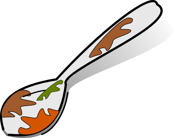 dirty spoon clip art is free clipart panda free clipart images rh clipartpanda com clip art spoon knife fork spoon and fork clipart